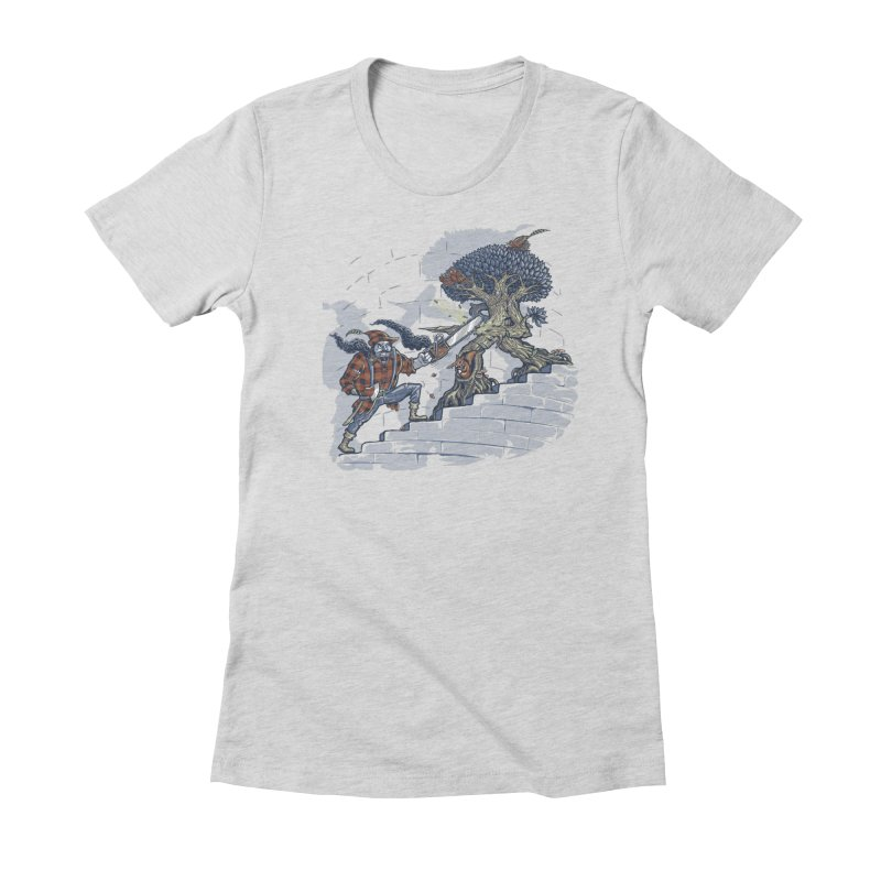 The Never Ending Duel Women's Fitted T-Shirt by Made With Awesome