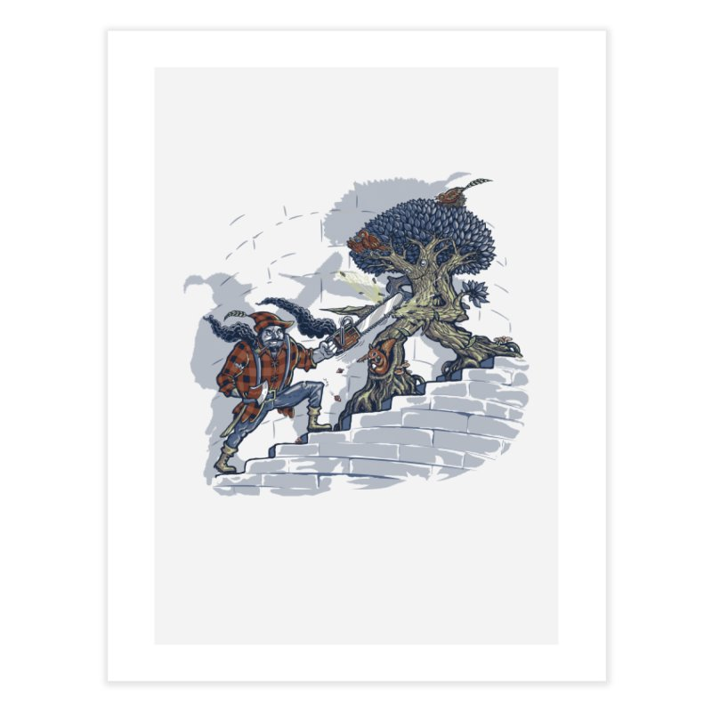 The Never Ending Duel Home Fine Art Print by Made With Awesome