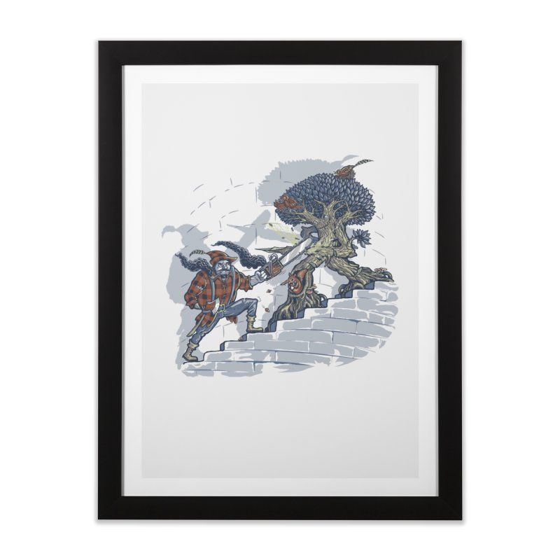 The Never Ending Duel Home Framed Fine Art Print by Made With Awesome