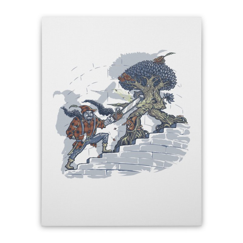 The Never Ending Duel Home Stretched Canvas by Made With Awesome