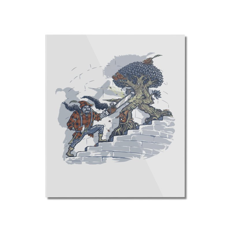 The Never Ending Duel Home Mounted Acrylic Print by Made With Awesome