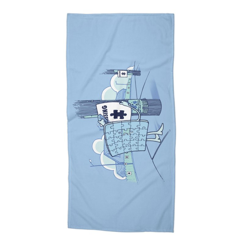 Missing Accessories Beach Towel by Made With Awesome