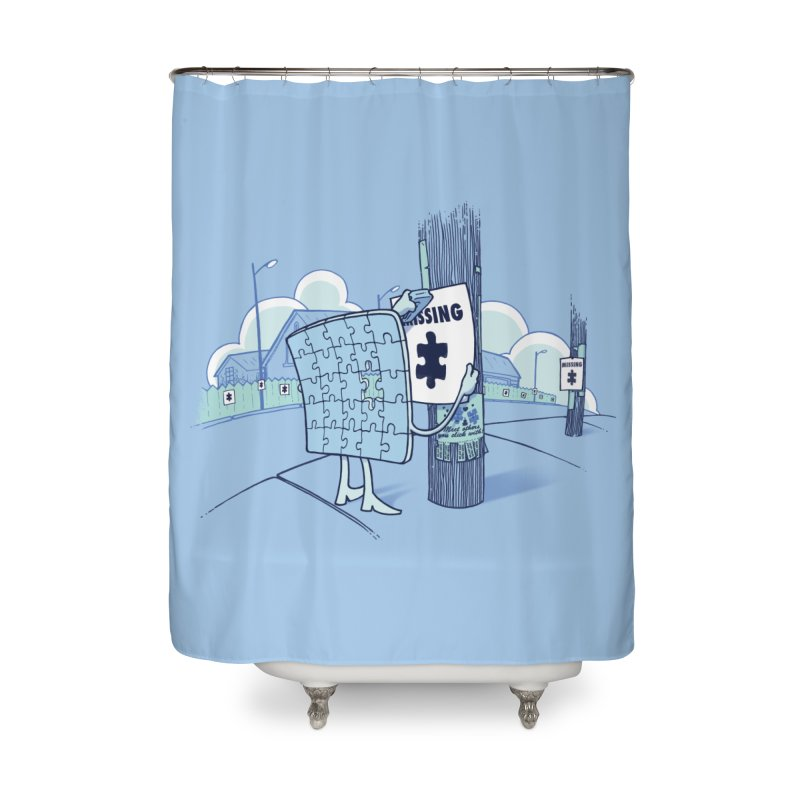 Missing Home Shower Curtain by Made With Awesome