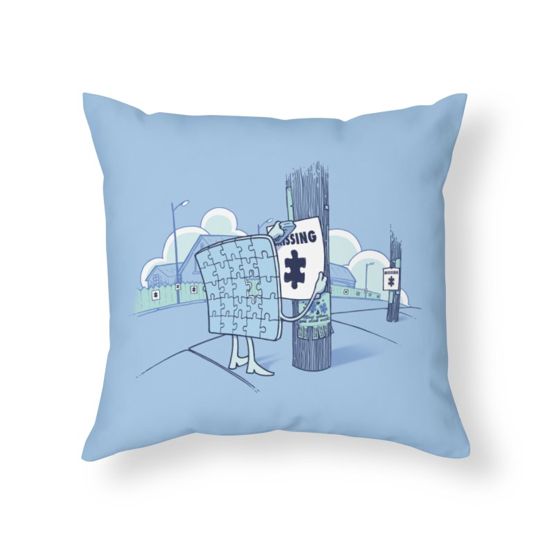 Missing Home Throw Pillow by Made With Awesome