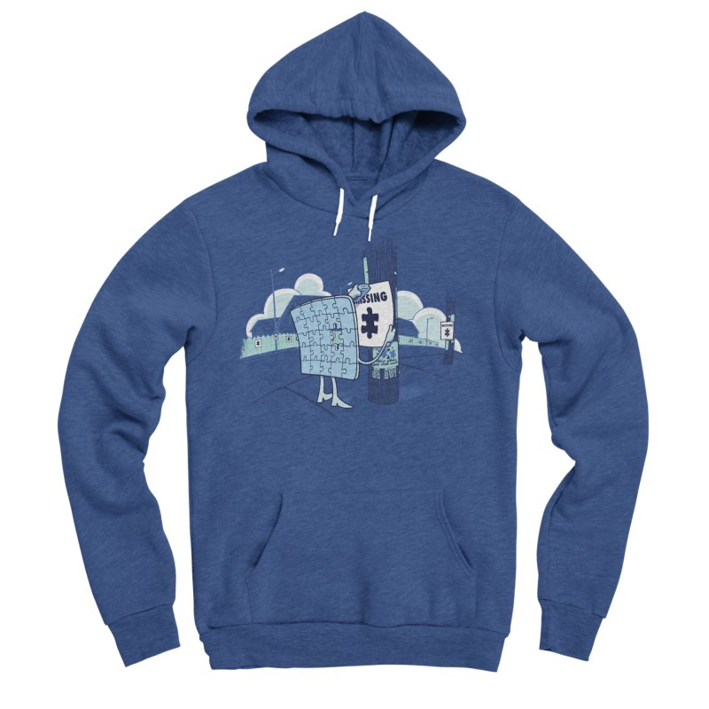 Missing Men's Sponge Fleece Pullover Hoody by Made With Awesome