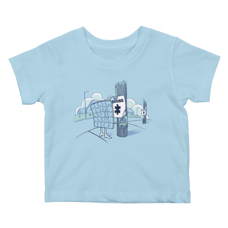 Missing Kids Baby T-Shirt by Made With Awesome