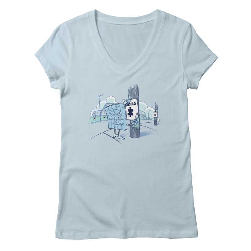 Missing Women's V-Neck by Made With Awesome