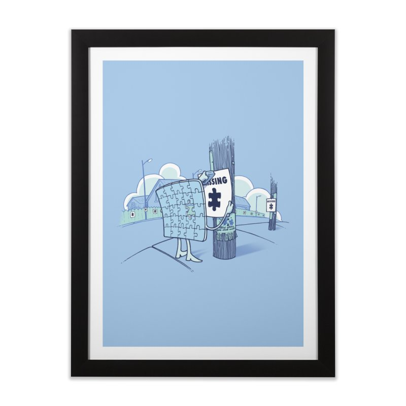 Missing Home Framed Fine Art Print by Made With Awesome