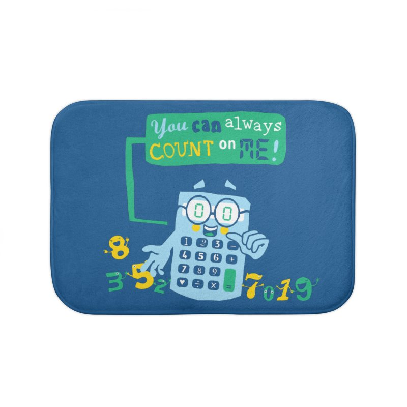 Count On Me Home Bath Mat by Made With Awesome