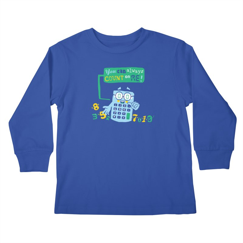 Count On Me Kids Longsleeve T-Shirt by Made With Awesome