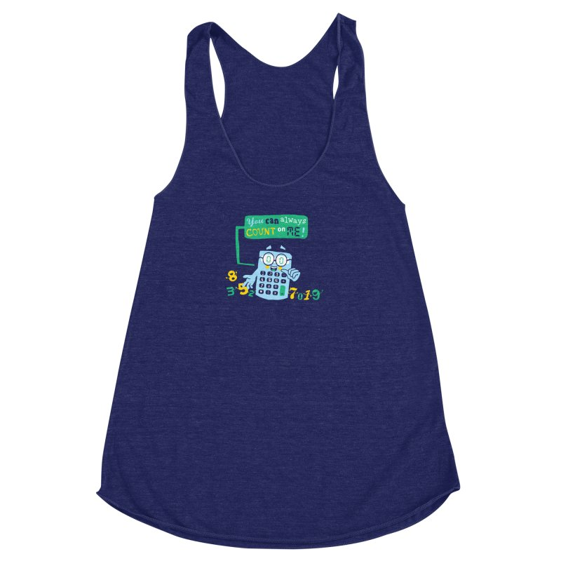 Count On Me Women's Racerback Triblend Tank by Made With Awesome