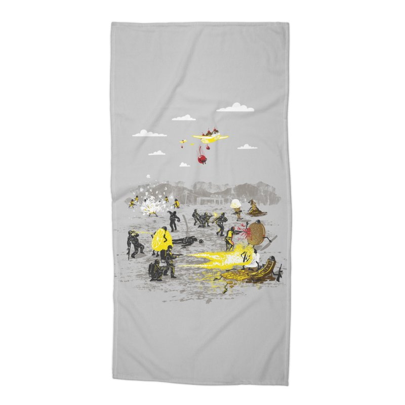 Food Fight Accessories Beach Towel by Made With Awesome