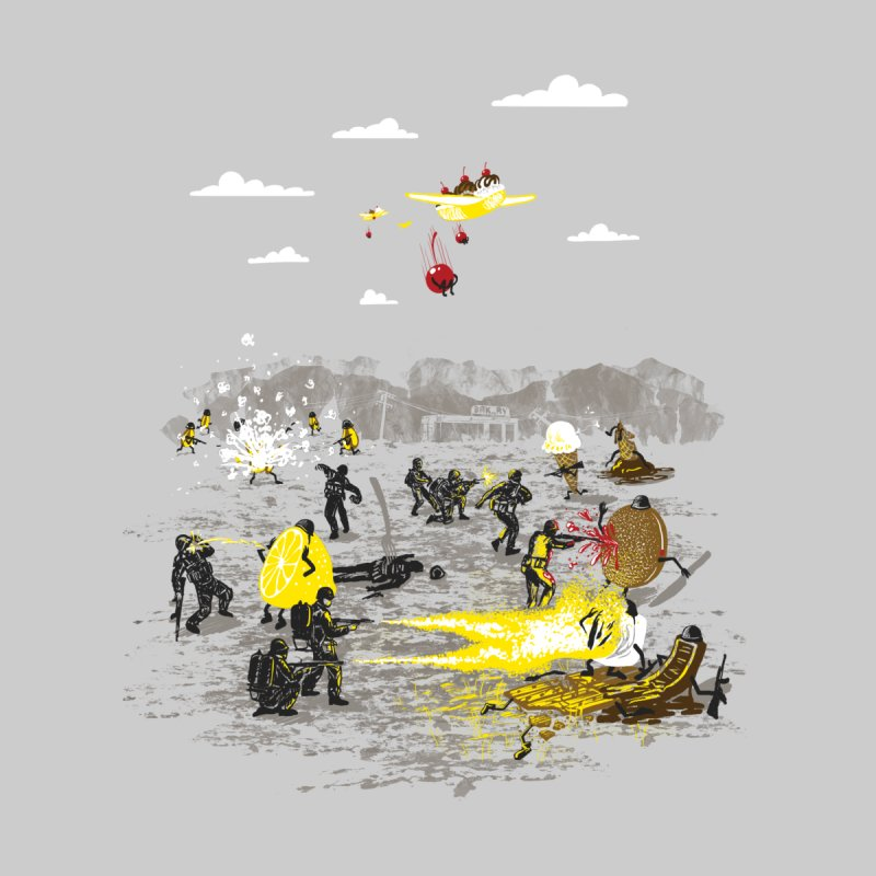 Food Fight Kids T-Shirt by Made With Awesome