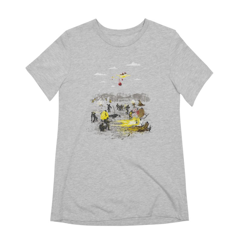 Food Fight Women's T-Shirt by Made With Awesome