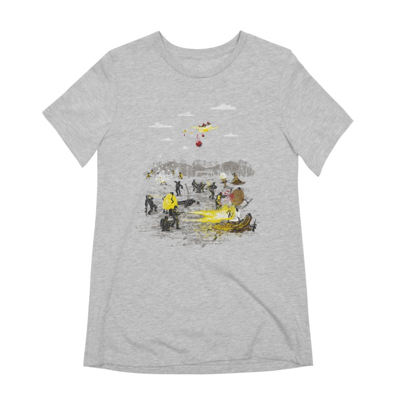 Food Fight Women's Extra Soft T-Shirt by Made With Awesome
