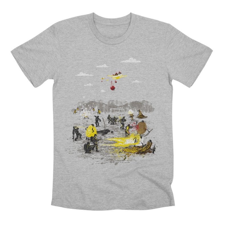 Food Fight Men's Premium T-Shirt by Made With Awesome