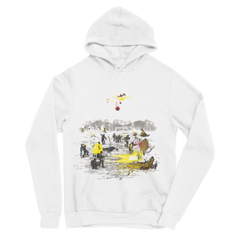 Food Fight Men's Sponge Fleece Pullover Hoody by Made With Awesome