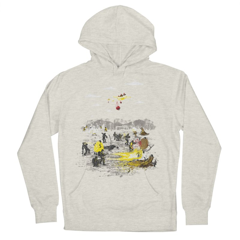 Food Fight Men's French Terry Pullover Hoody by Made With Awesome
