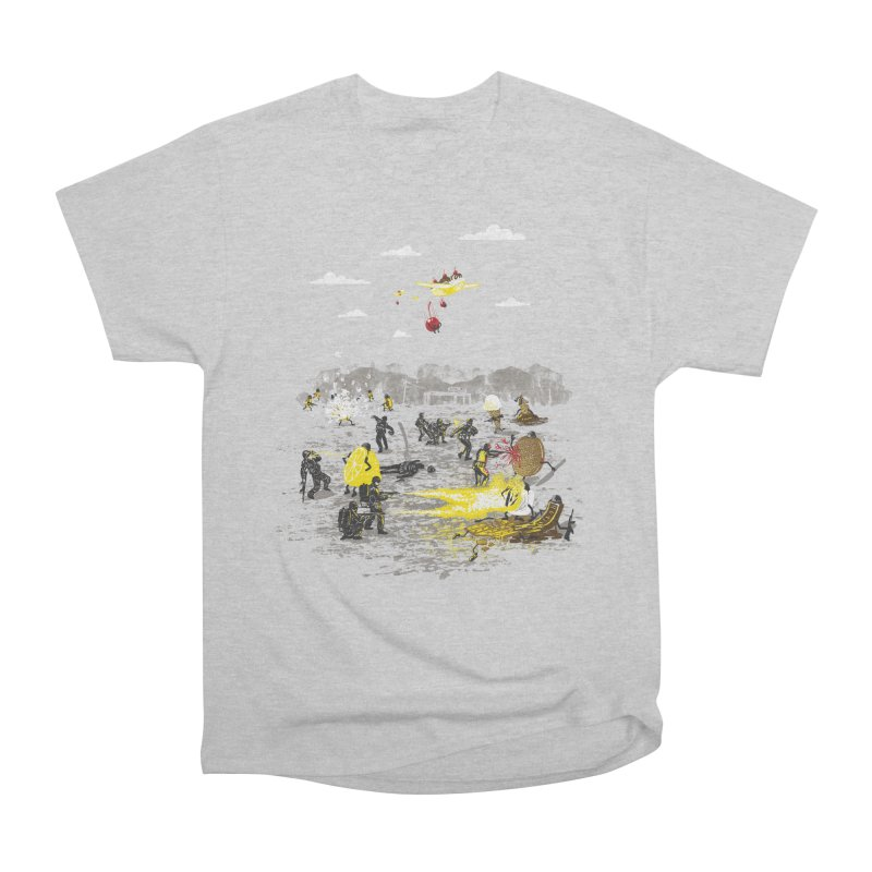Food Fight Men's Heavyweight T-Shirt by Made With Awesome