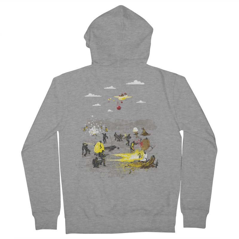 Food Fight Men's French Terry Zip-Up Hoody by Made With Awesome