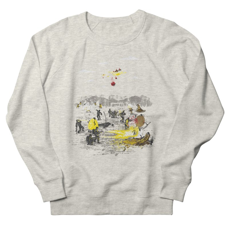 Food Fight Men's French Terry Sweatshirt by Made With Awesome