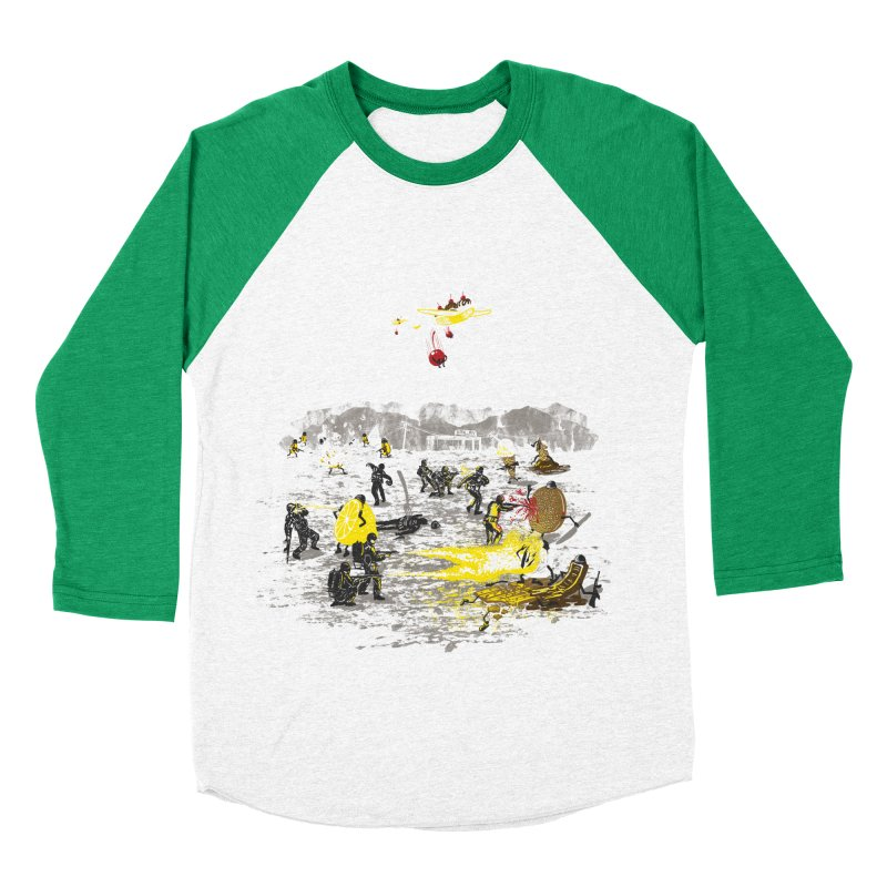 Food Fight Men's Baseball Triblend Longsleeve T-Shirt by Made With Awesome
