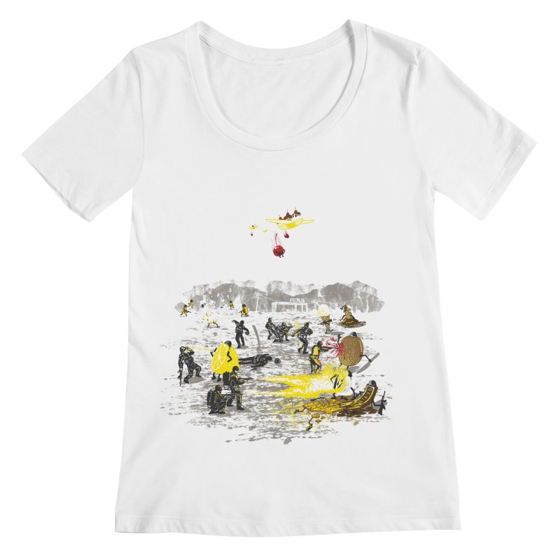 Food Fight Women's Regular Scoop Neck by Made With Awesome