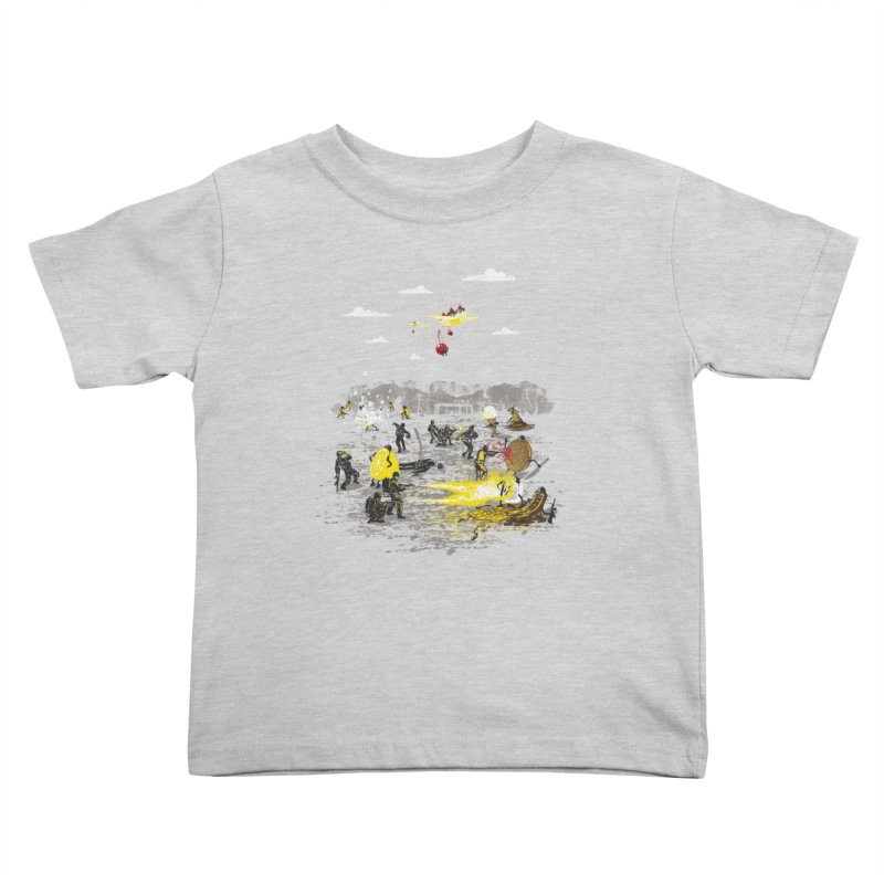 Food Fight Kids Toddler T-Shirt by Made With Awesome