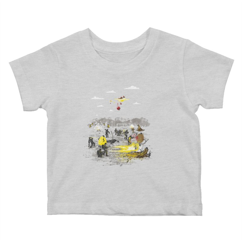 Food Fight Kids Baby T-Shirt by Made With Awesome