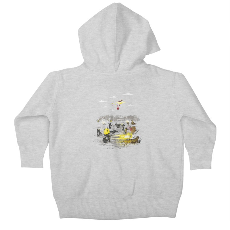 Food Fight Kids Baby Zip-Up Hoody by Made With Awesome