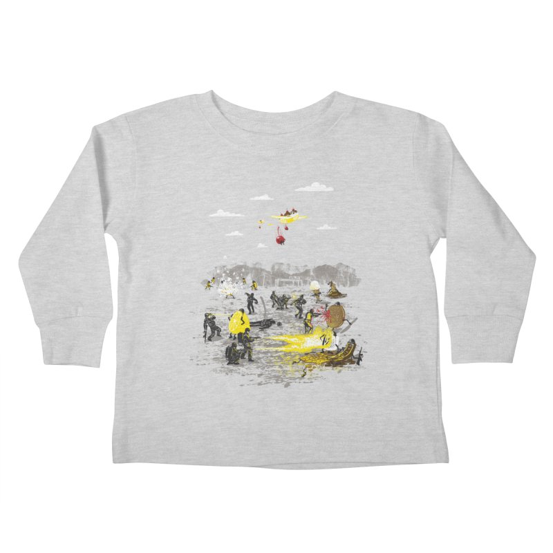 Food Fight Kids Toddler Longsleeve T-Shirt by Made With Awesome