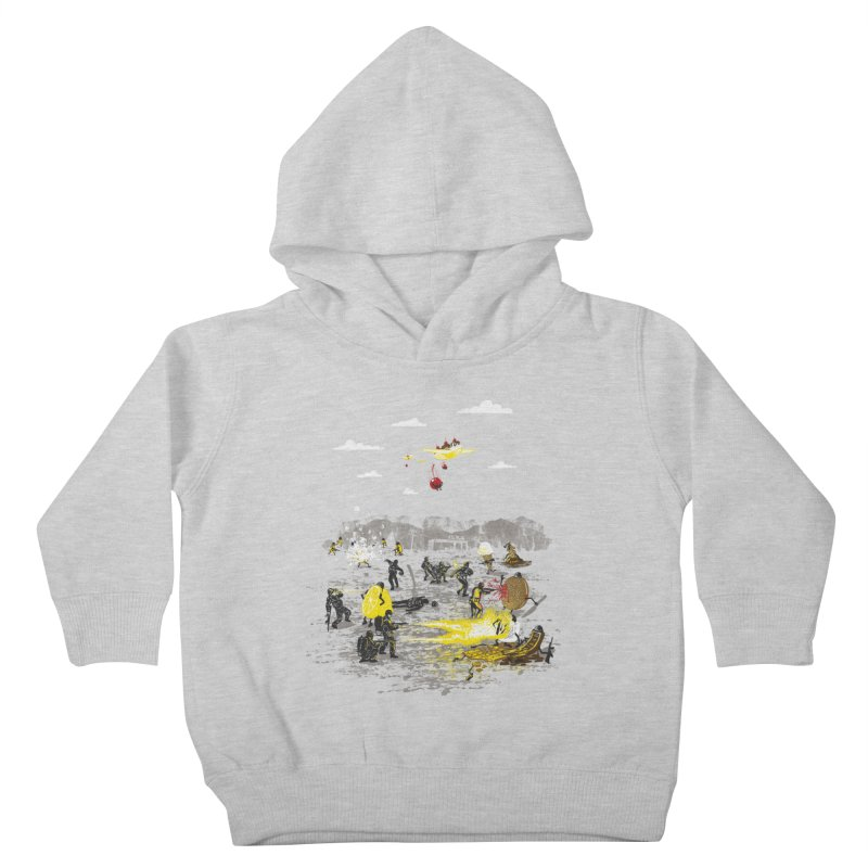 Food Fight Kids Toddler Pullover Hoody by Made With Awesome