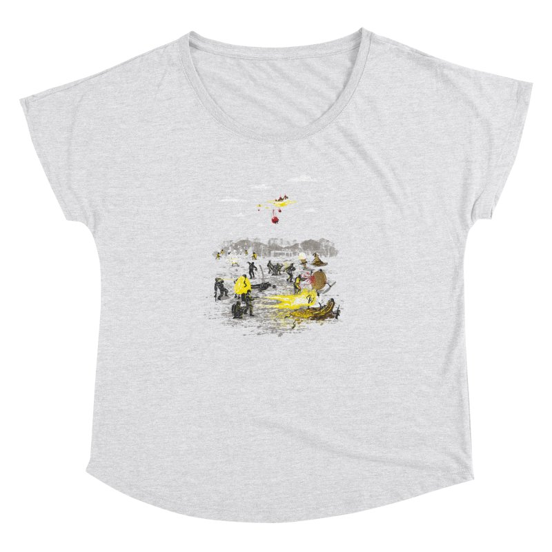 Food Fight Women's Dolman Scoop Neck by Made With Awesome