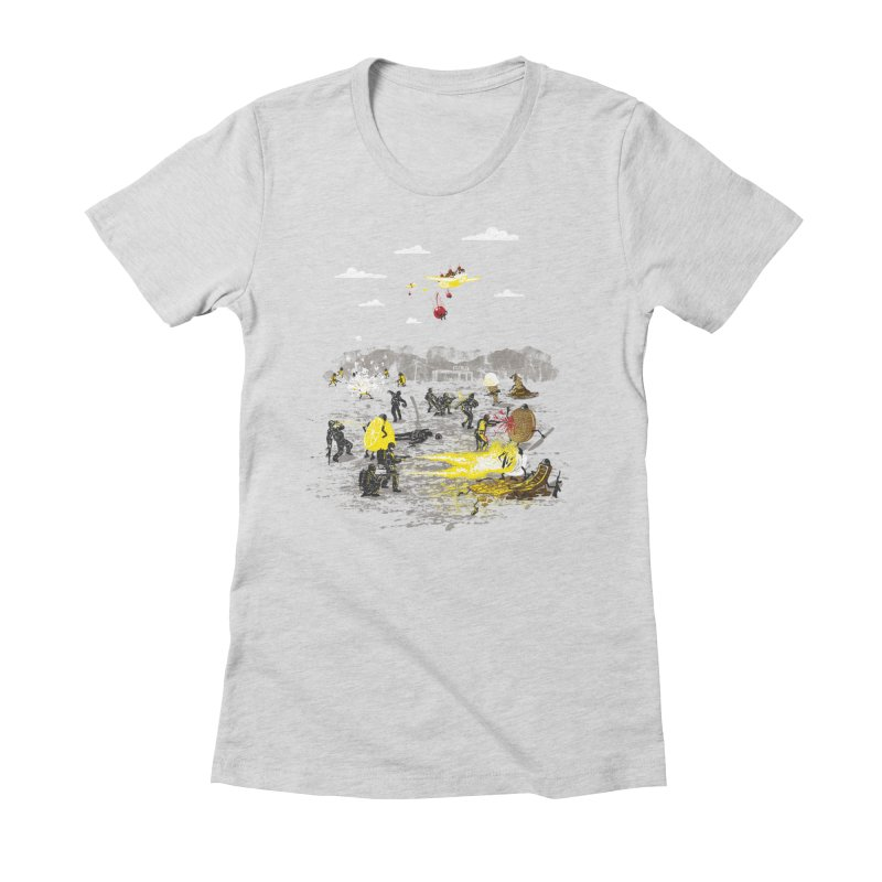 Food Fight Women's Fitted T-Shirt by Made With Awesome