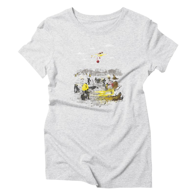 Food Fight Women's Triblend T-Shirt by Made With Awesome