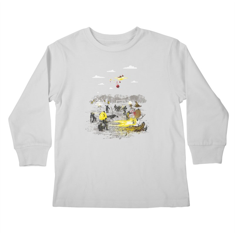 Food Fight Kids Longsleeve T-Shirt by Made With Awesome