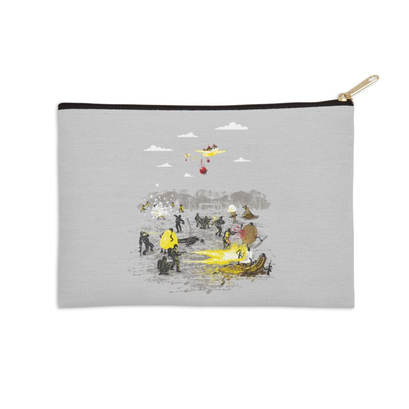 Food Fight Accessories Zip Pouch by Made With Awesome