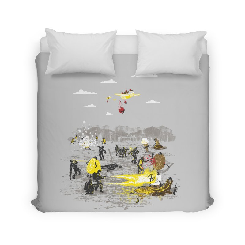 Food Fight Home Duvet by Made With Awesome