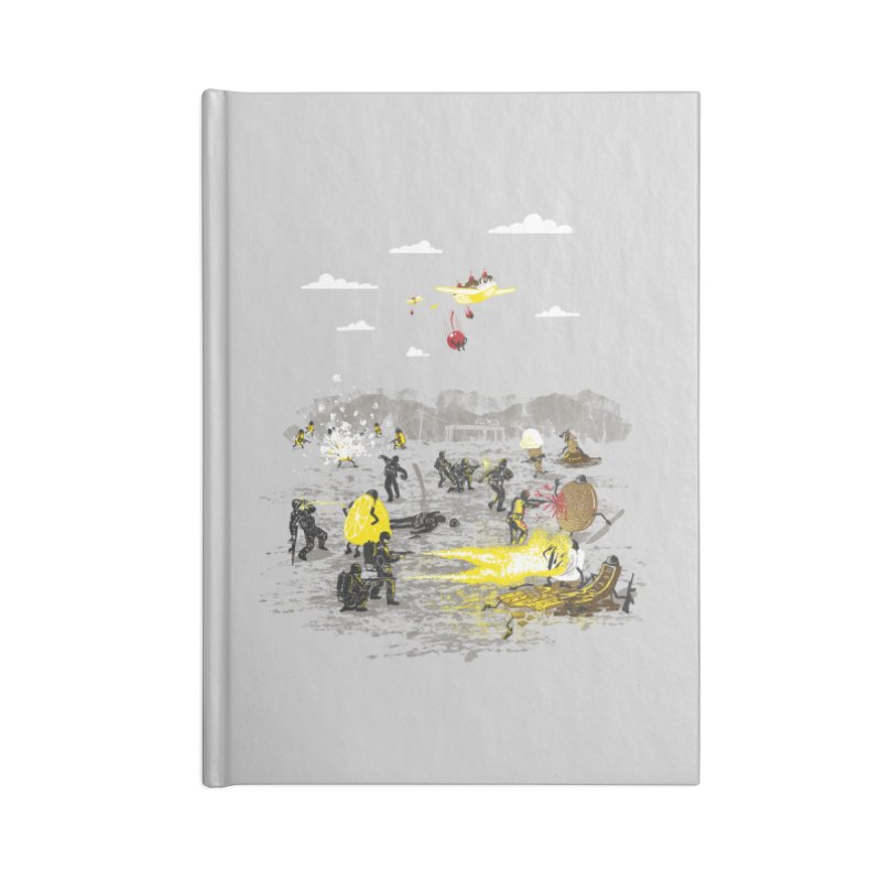 Food Fight Accessories Blank Journal Notebook by Made With Awesome