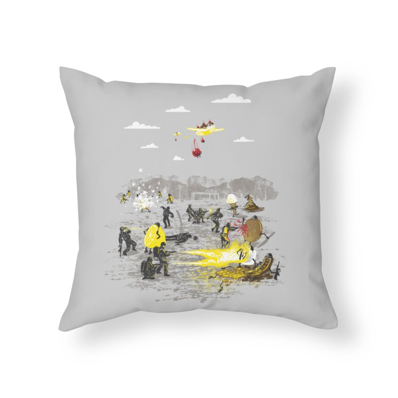 Food Fight Home Throw Pillow by Made With Awesome