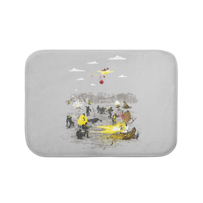 Food Fight Home Bath Mat by Made With Awesome