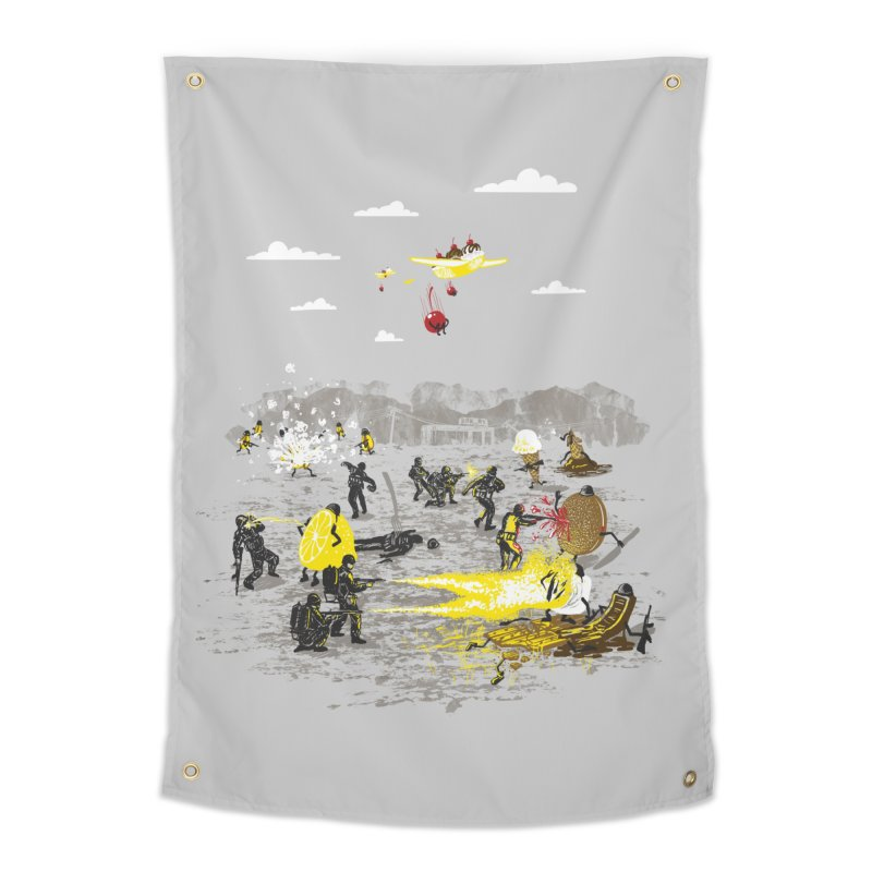 Food Fight Home Tapestry by Made With Awesome