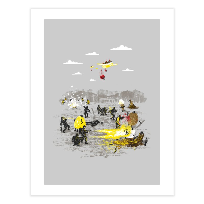 Food Fight Home Fine Art Print by Made With Awesome