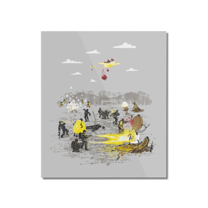 Food Fight Home Mounted Acrylic Print by Made With Awesome