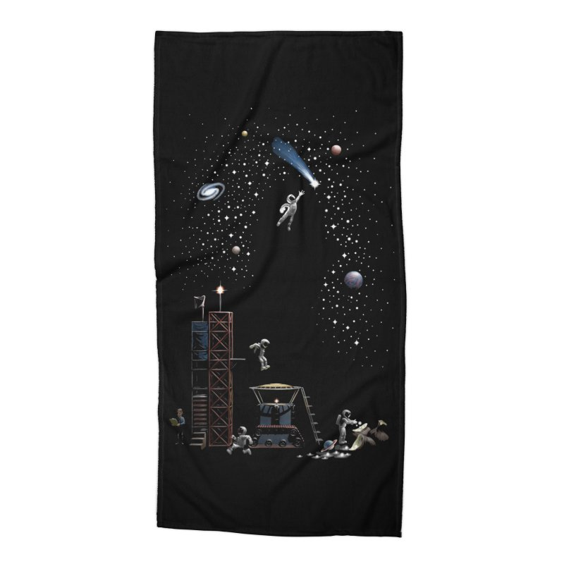 Astronot Accessories Beach Towel by Made With Awesome