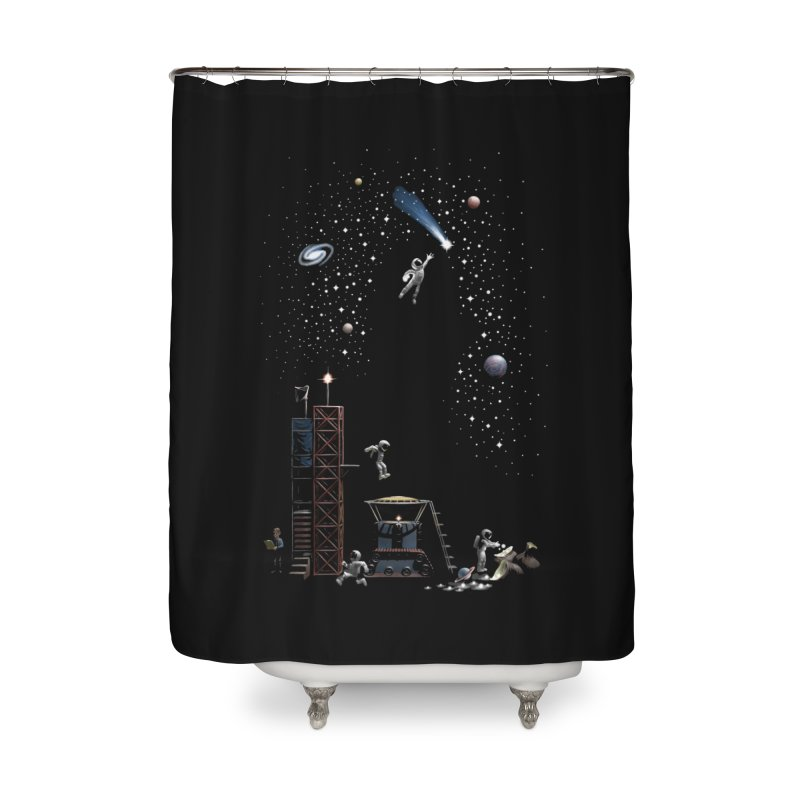 Astronot Home Shower Curtain by Made With Awesome