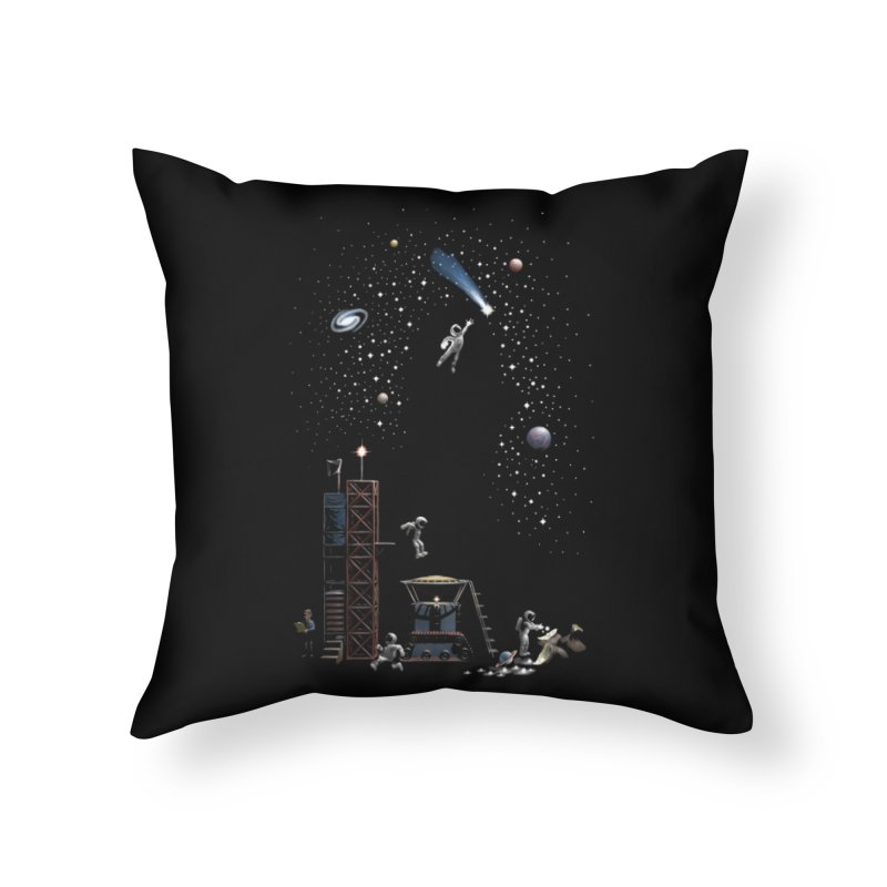 Astronot Home Throw Pillow by Made With Awesome