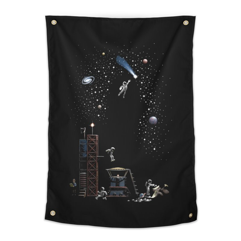 Astronot Home Tapestry by Made With Awesome