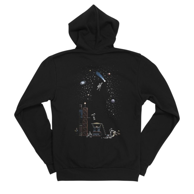 Astronot Men's Sponge Fleece Zip-Up Hoody by Made With Awesome