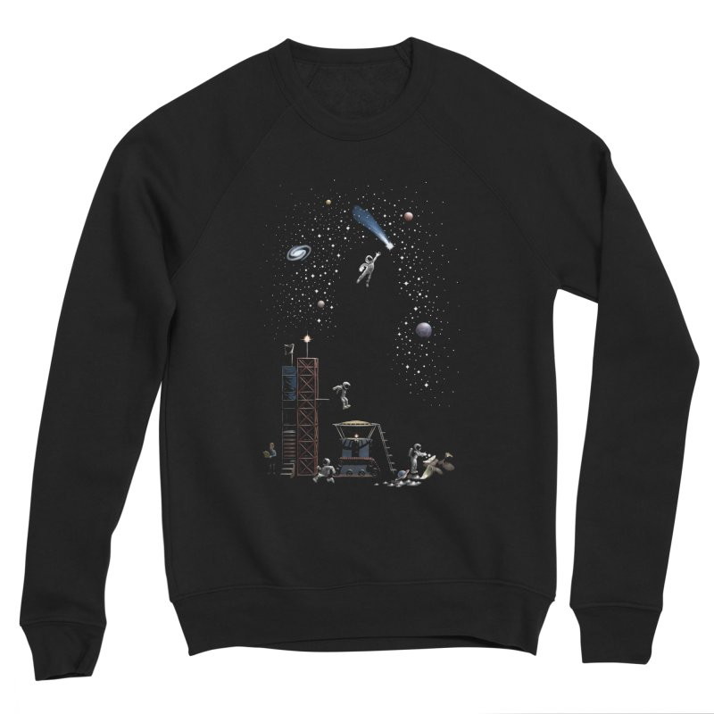 Astronot Men's Sponge Fleece Sweatshirt by Made With Awesome